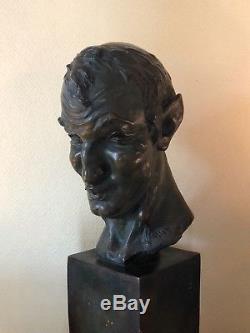 Très important buste en terre cuite Maurice Guiraud Rivière Art Deco sculpture