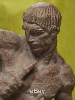 Ulysse bandant son arc. Sculpture art deco d'Henri Bargas. Superbe patine