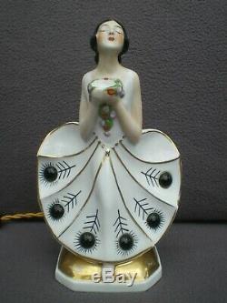 Veilleuse lampe brûle parfum femme art deco 1920 vintage perfume lamp sculpture